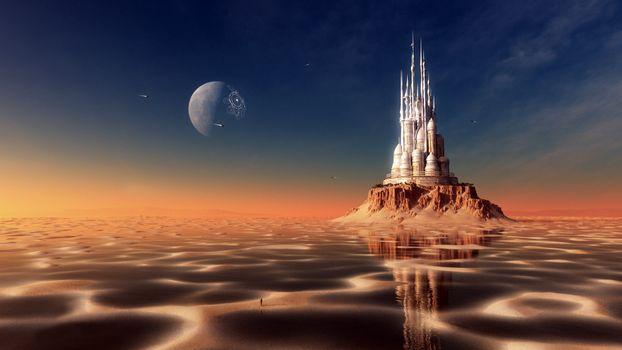 Заставки пейзаж, фантастика, пустыня