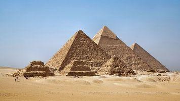 Бесплатные фото пустыня,песок,небо,голубое,пирамиды,развалины,природа