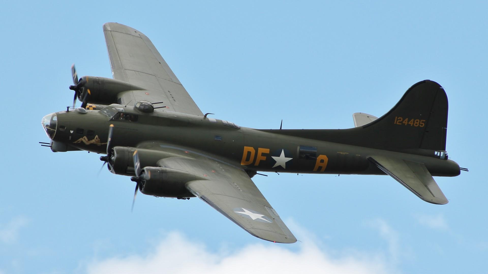 самолет, военный, зеленый