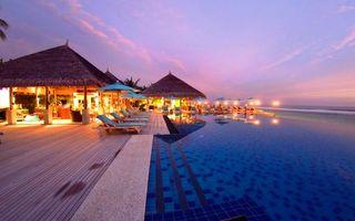 Бесплатные фото тропики,мальдивы,море,курорт,вечер,разное