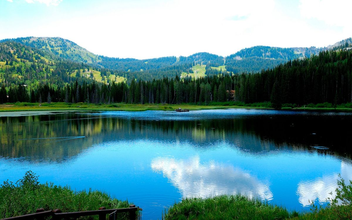 Фото бесплатно горы, вода, берег - на рабочий стол