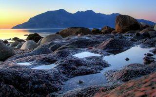 Бесплатные фото закат,море,горы,небо,камни,вода,природа