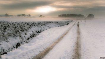 Photo free winter, road, after snowfall