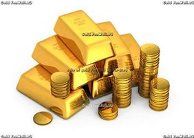 Бесплатные фото золото,gold,слитки,монеты,белый,фон,деньги
