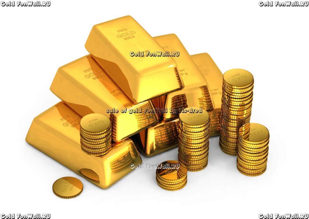 Фото бесплатно золото, gold, слитки, монеты, белый, фон, деньги, деньги