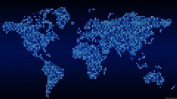 Photo free map, blue, pixels