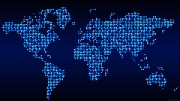 Фото бесплатно карта, синій, пікселі