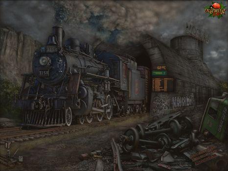 Фото бесплатно москва, паровоз, руины