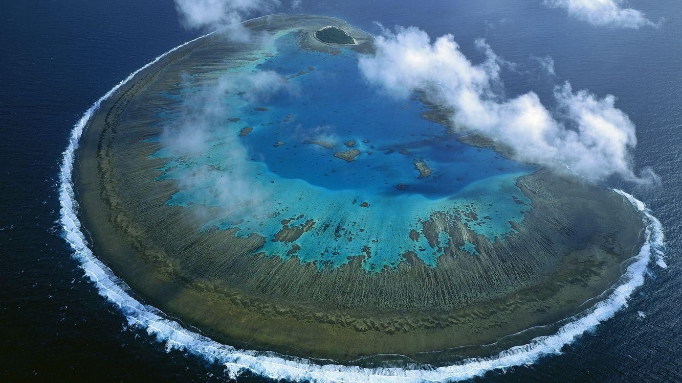 Фото бесплатно облака, море, океан, остров, природа, волна, пейзаж, разное