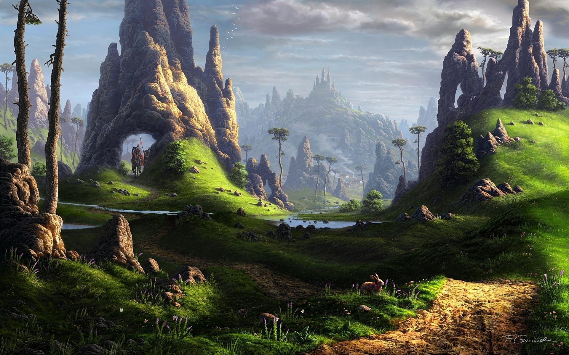 Фантастический пейзаж загрузить