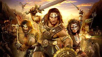 Бесплатные фото battle,warriors,sword,фантастика