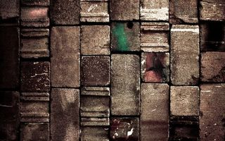 Обои кирпич, стена, рельеф, пятна, краска, выбоины, камень, кладка, поверхность, текстуры