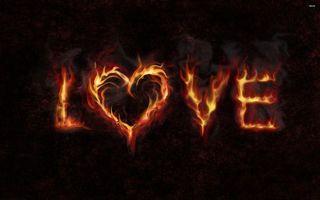 Бесплатные фото love, любовь, надпись, буквы, огонь, фон, черный