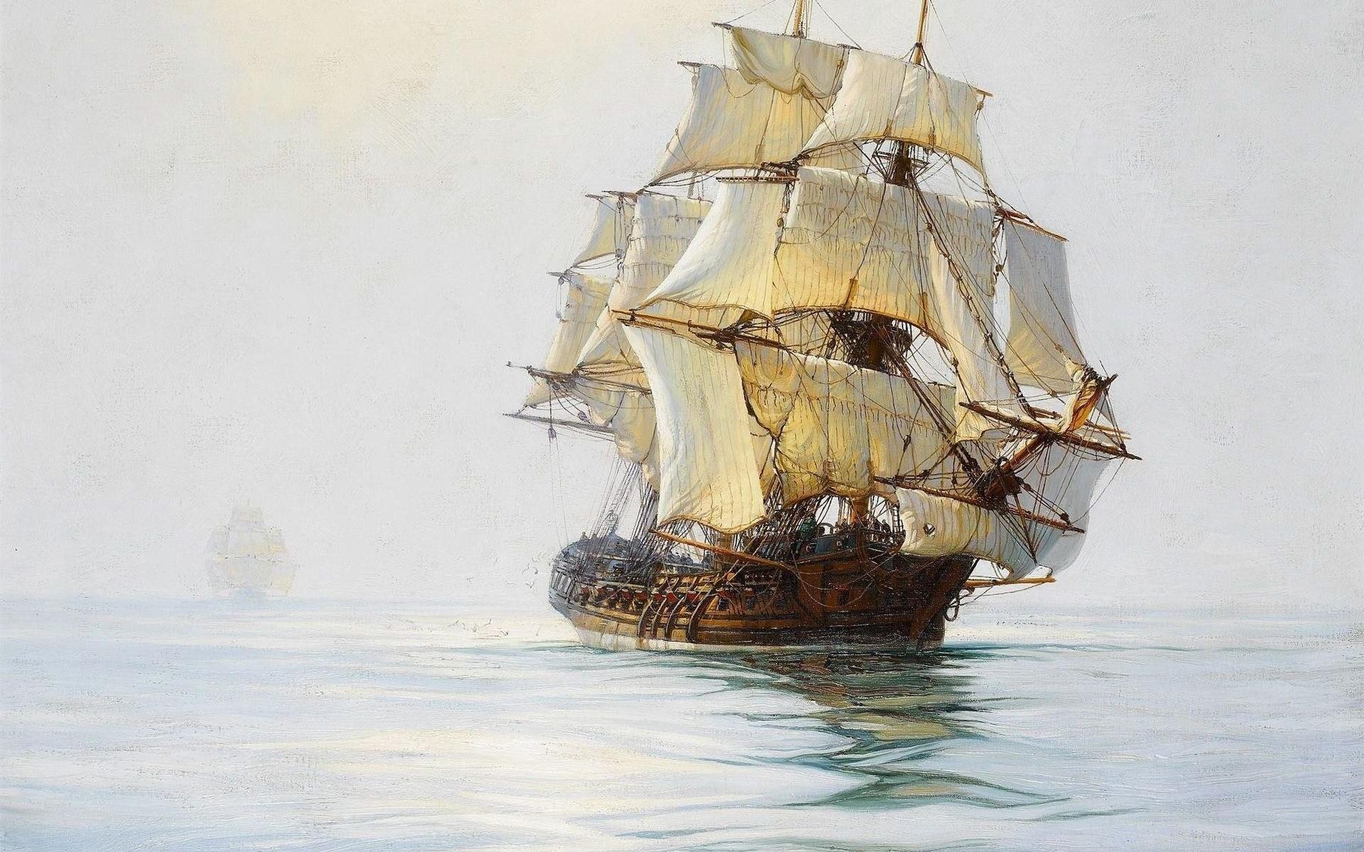 море, карабли, паруса