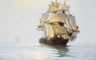 Бесплатные фото море,карабли,паруса,белые,мачты,небо,рендеринг