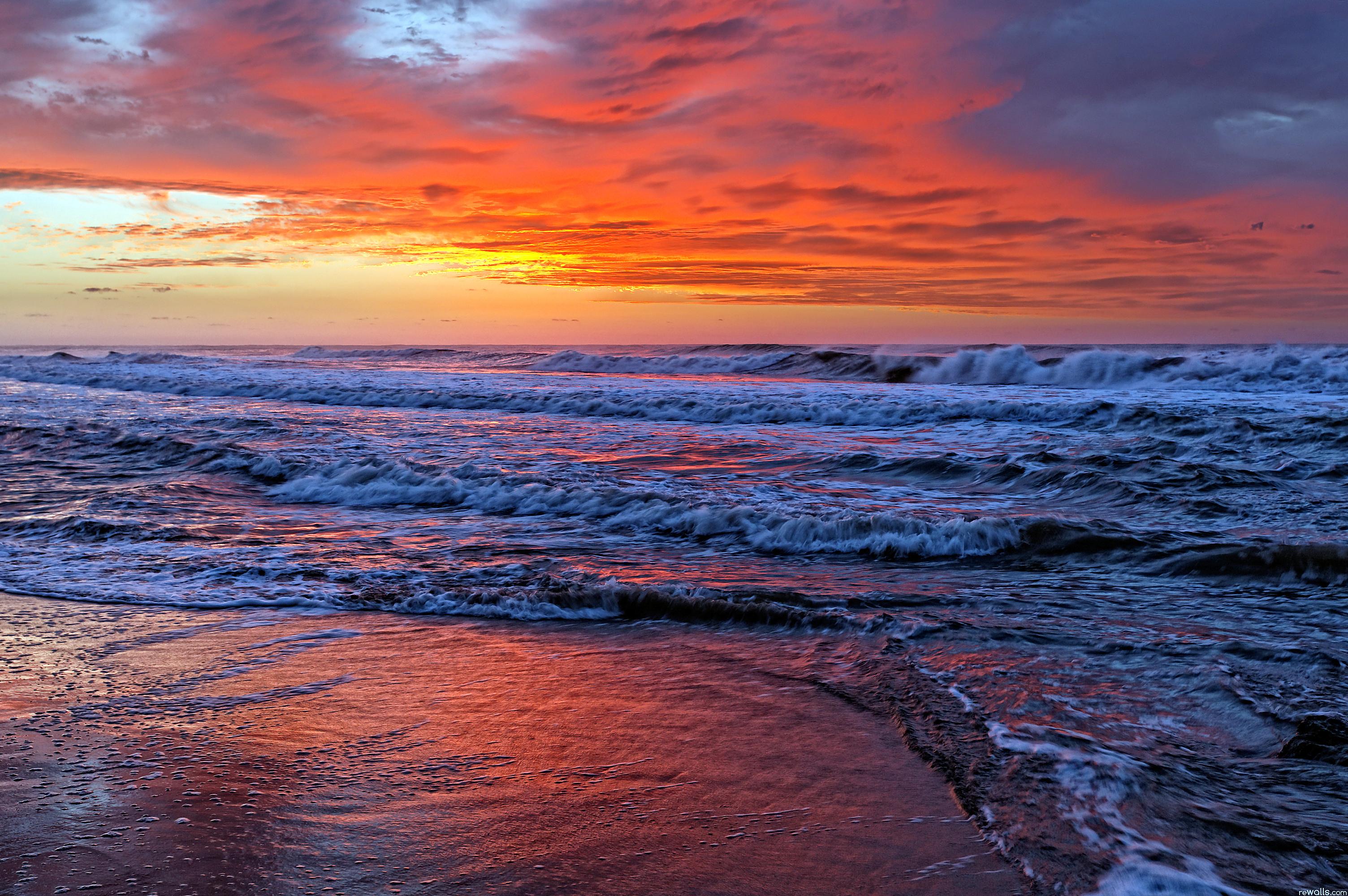 волны закат скачать