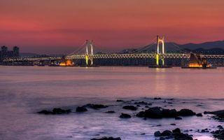 Заставки море, пейзаж, мост