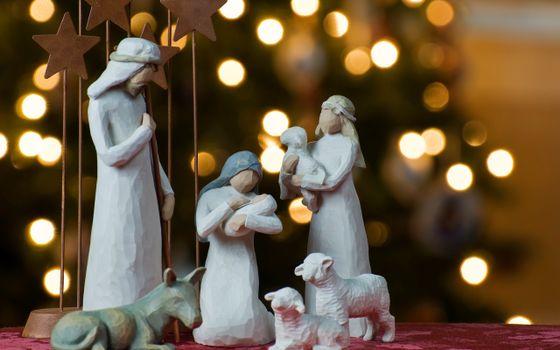 Фото бесплатно рождество, фигурки, люди