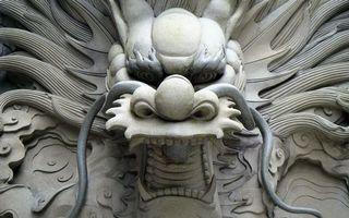 Бесплатные фото скульптура,голова,бетон,дракон,лицо,глаза,клыки