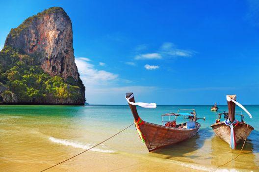 Бесплатные фото тропики,таиланд,пляж,лодки,пейзажи