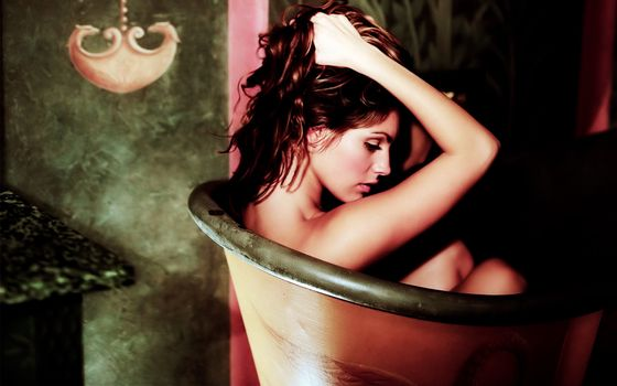 Заставки ванна, волосы, глаза