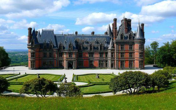 Фото бесплатно замок, имение, деревья