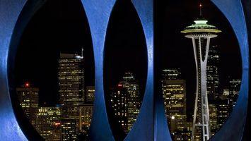 Бесплатные фото здания, высокие, темно, свет, окна, красиво, город