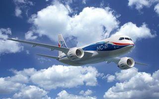 Бесплатные фото мс-21,самолет,боинг,пассажирский,в небе,летит,облака