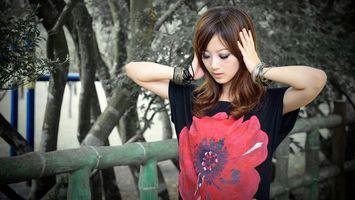 Фото бесплатно азиатка, глаза, макияж