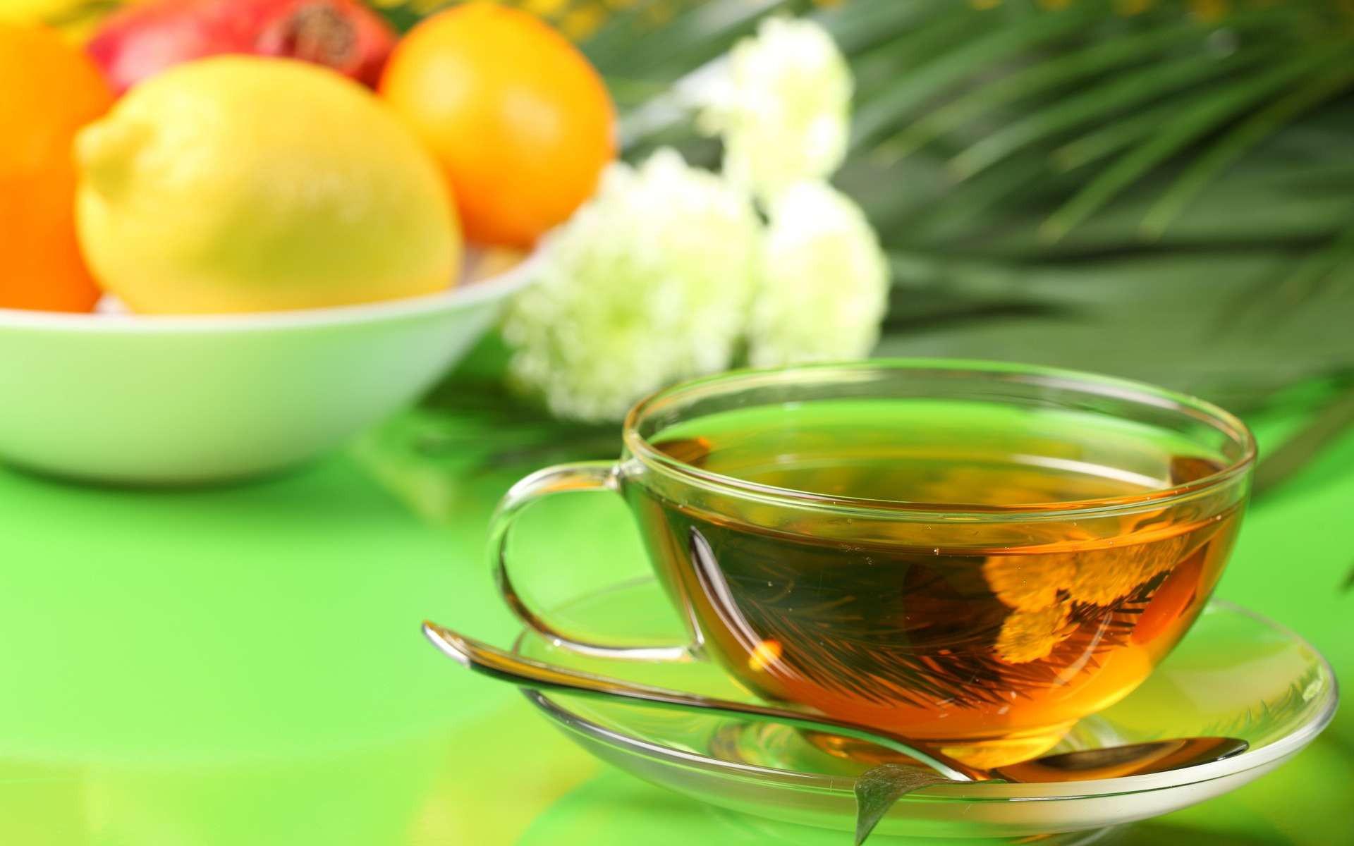 чай, тарелка, блюдце
