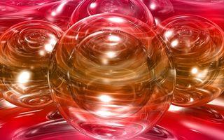 Бесплатные фото шары,трехмерные,линии,3d графика
