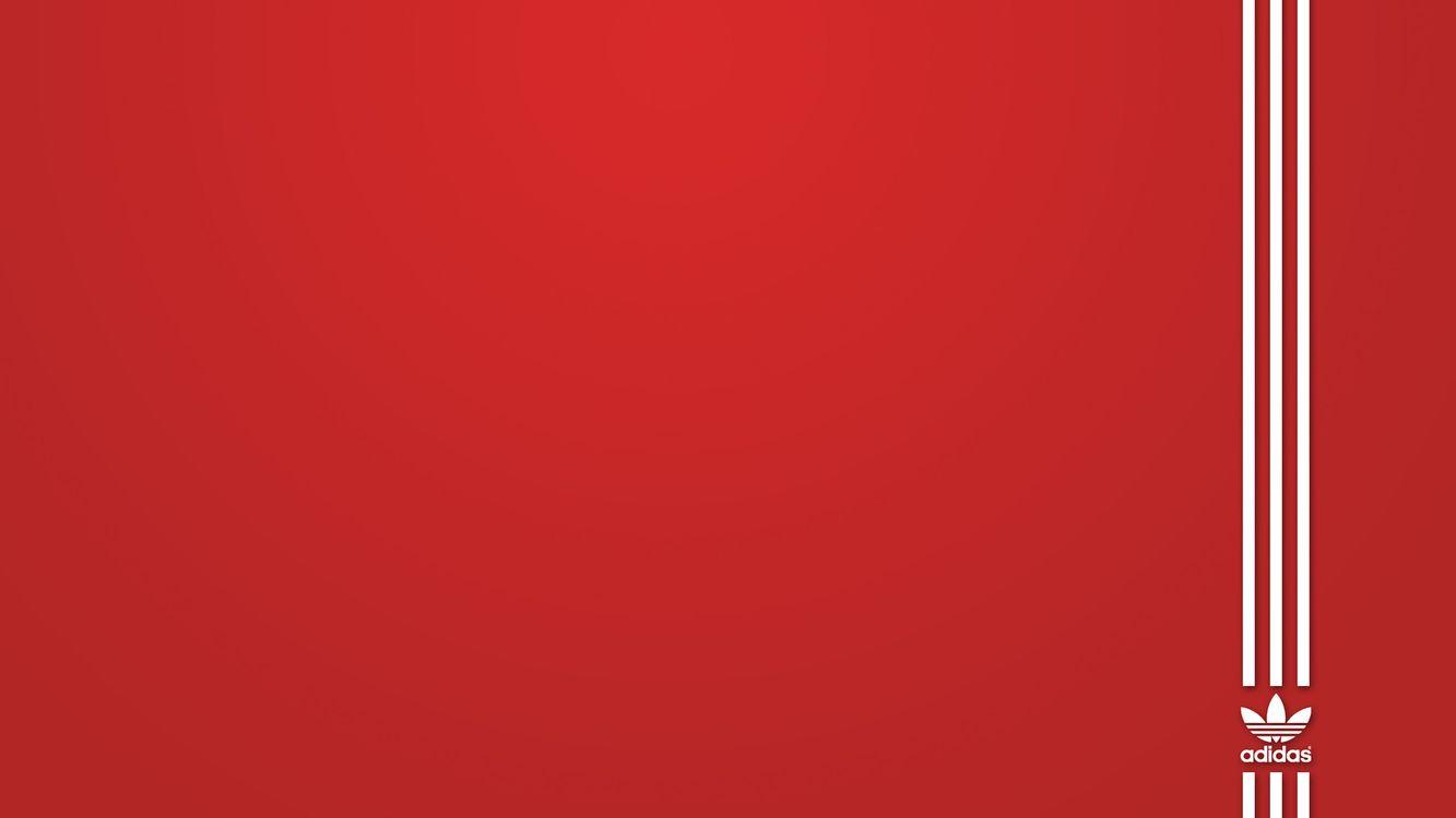 Фото бесплатно фон, красный, надпись, логотип, адидас, полоски, белые, три, абстракции, абстракции