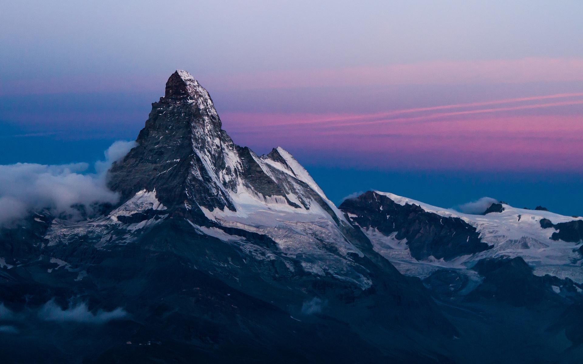 горы склон небо скачать