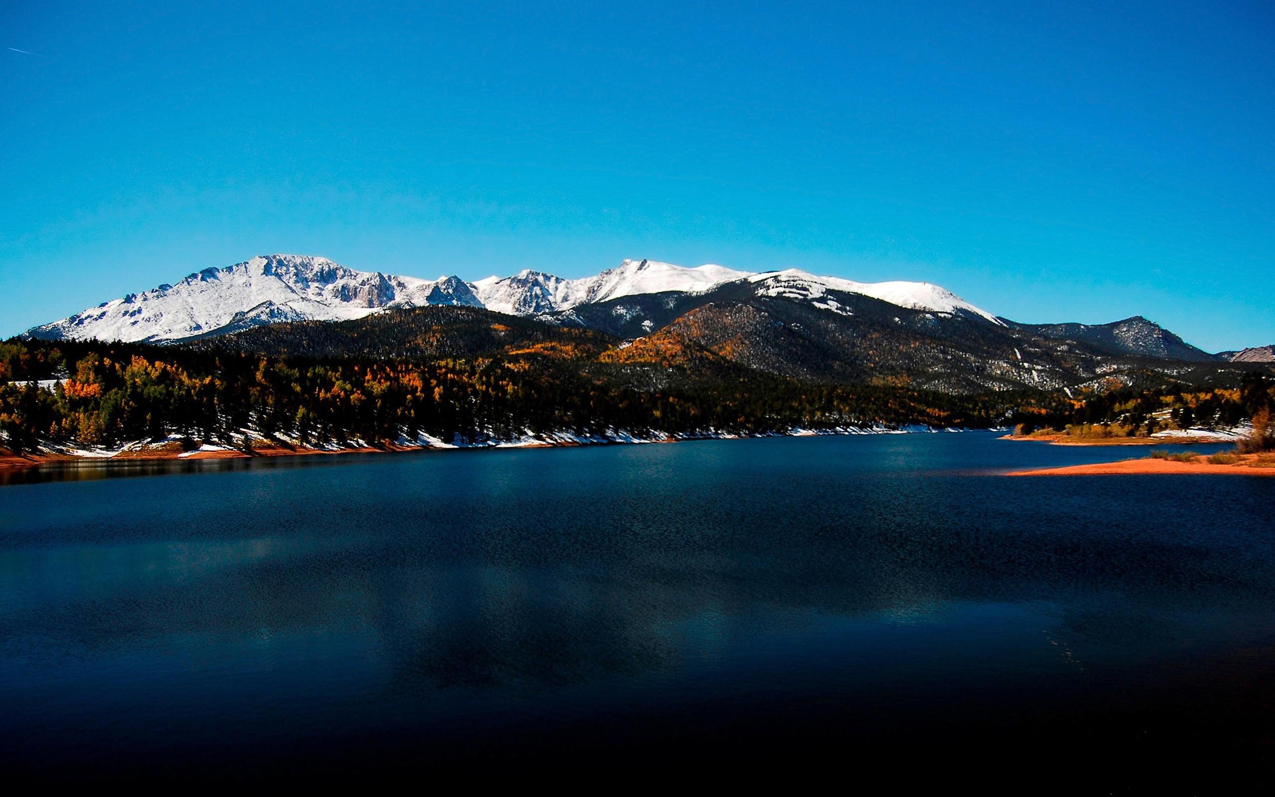 Обои горы, холмы, снег, мороз