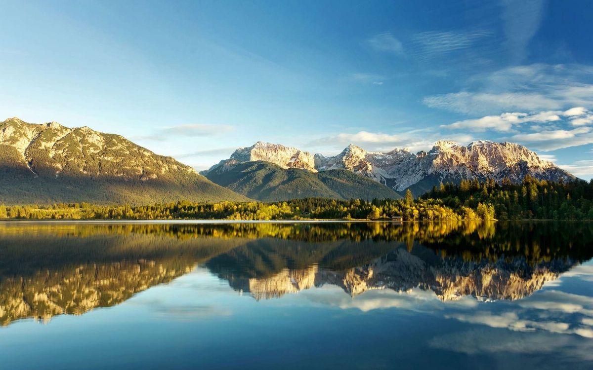 Фото бесплатно горы, озеро, берег - на рабочий стол