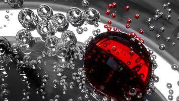 Бесплатные фото капли,круглые,серые,красные,большие,маленькие,абстракции