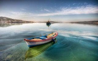 Бесплатные фото лодка,небо,голубое,облака,горы,корабль,веревка