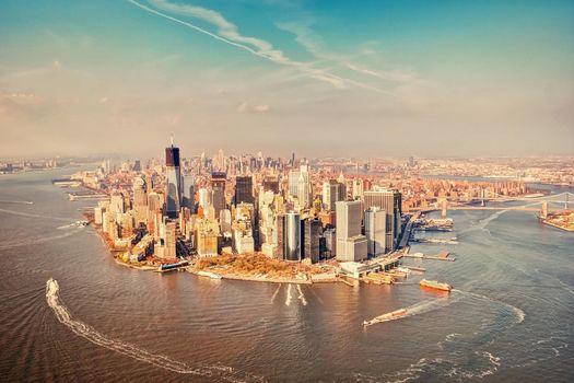 Фото бесплатно манхэттен, нью-йорк - на рабочий стол