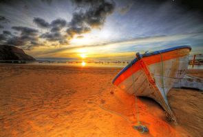 Бесплатные фото море,пляж,лодка,закат,пейзажи