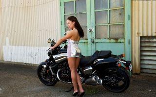 Фото бесплатно мотоцикл, красивая, черная