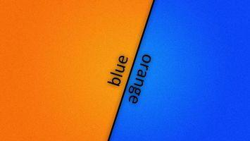 Бесплатные фото надпись,blue,orange,синий,голубой,фон,полоска