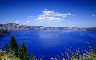 Бесплатные фото озеро,синее,вода,небо,облака,трава,деревья