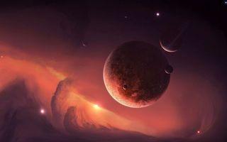 Бесплатные фото планеты,спутники,звезды,туман,вихрь,свет,туманность
