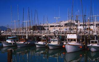 Фото бесплатно порт, причал, яхты