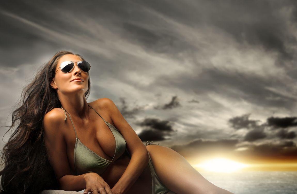 Фото бесплатно очки, длинношерстные, модель - на рабочий стол