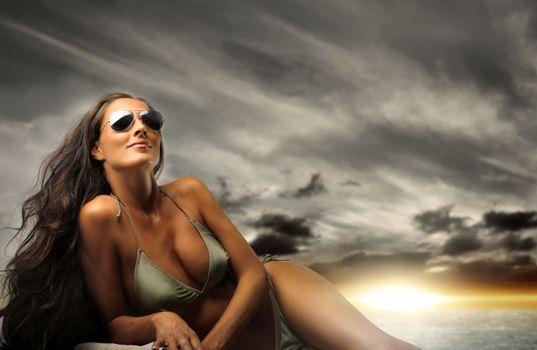 Фото бесплатно очки, длинношерстные, модель
