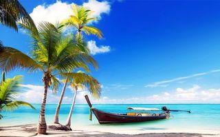 Бесплатные фото тропики,море,пляж,лодка,пейзажи