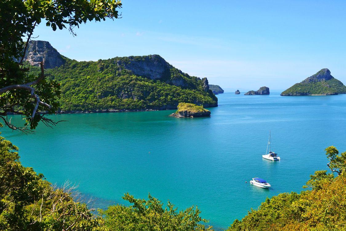 Обои пейзажи, лодки, тропики картинки на телефон