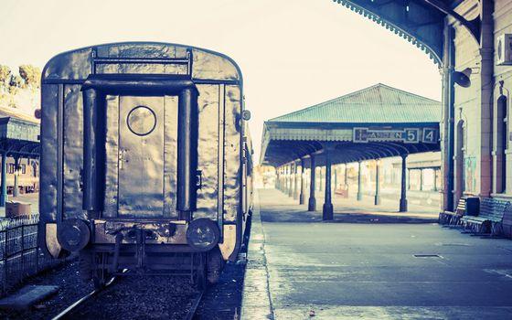 Фото бесплатно вагон, остановка, электричка