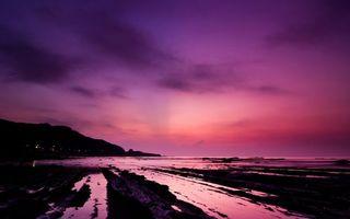 Бесплатные фото закат,горизонт,берег,горы,свет,огни,облака